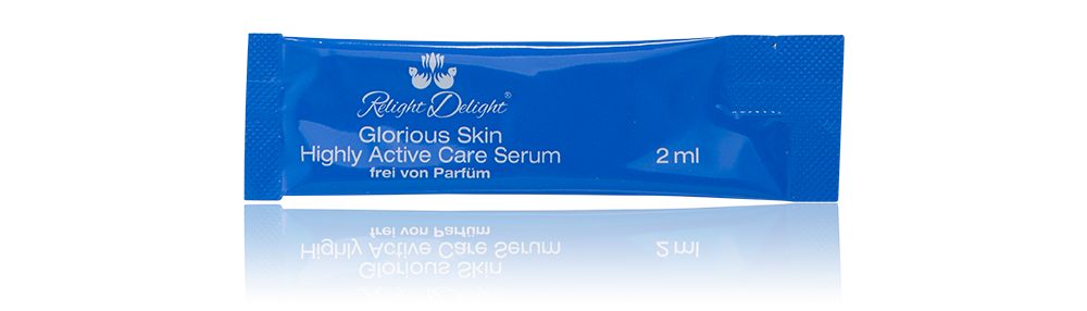 Glorious Skin - Highly Active Care Serum To Go - frei von Parfüm - 5 Sachets